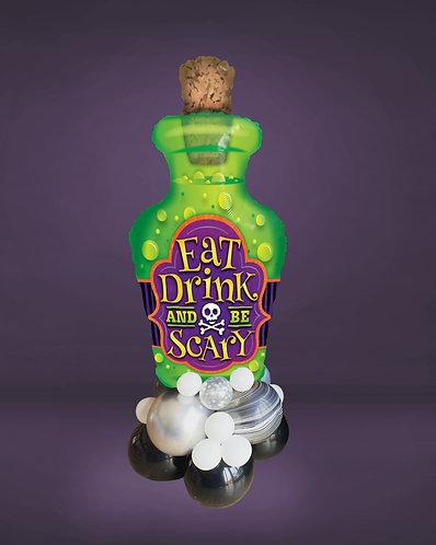 Eat, drink & be scary supershape balloon arrangement