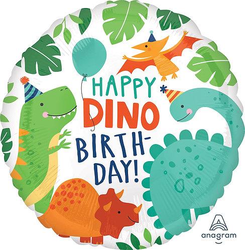 18 Inch Happy Dino Birthday Dinosaur Balloon