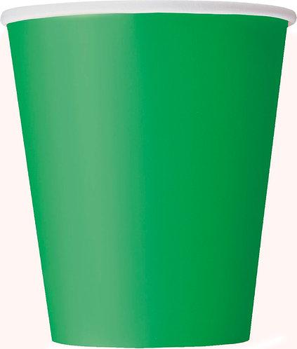Green Paper Cups (9oz) 14pk
