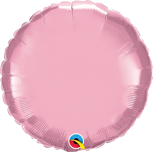 18 Inch Pearl Pink Round Foil Balloon