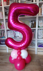 Large Number Foil on a luxury balloon base
