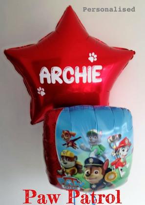 Personalised Paw Patrol Balloons
