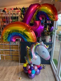 unicorn pastel supershape on balloon bas