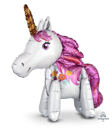 25 Inch Standing Unicorn Supershape Foil Balloon