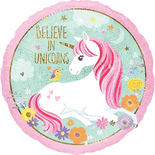 18 Inch Magical Unicorn Holographic Foil Balloon