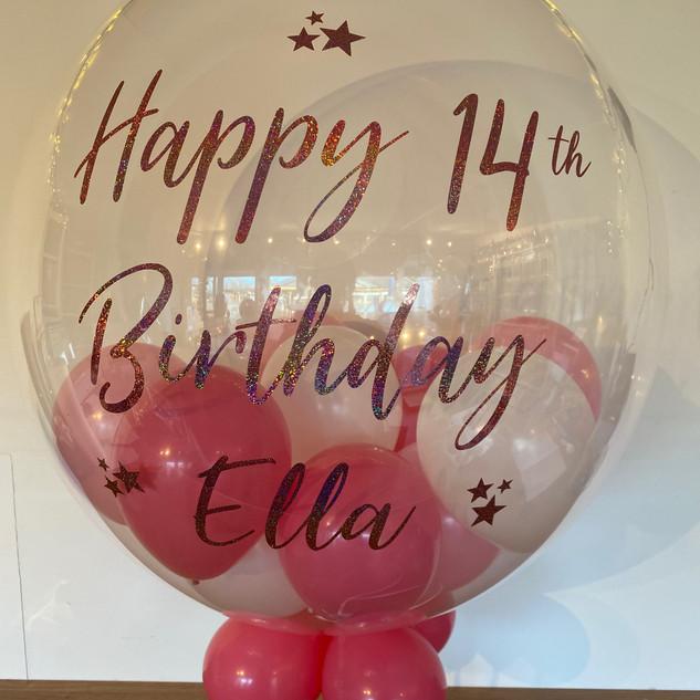24 inch bubble balloon 14th birthday pin