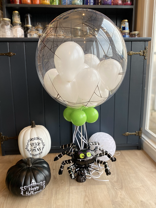 Spiderweb Clear Bubble Balloon for Halloween