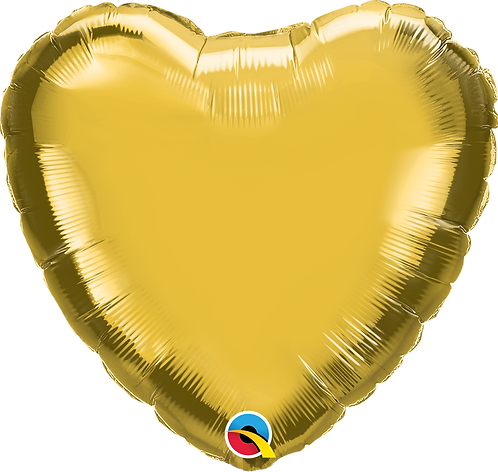 18 Inch Gold Heart Foil Balloon