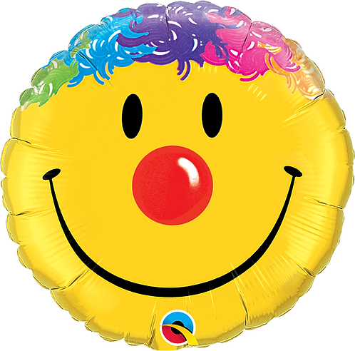 18 Inch Emoji Colourful Hair Foil Balloon