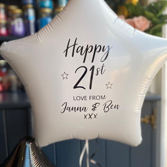 21st Birthday - Personalised plain white