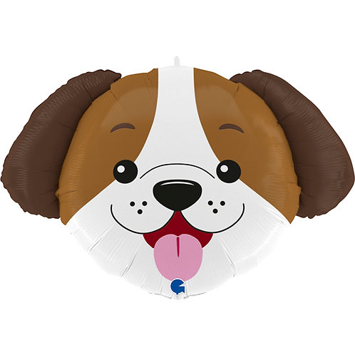 33 Inch Dog Head Supershape Foil Balloon