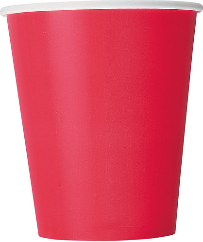 Red Paper Cups (9oz) 14pk