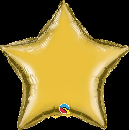 18 Inch Metallic Gold Star Foil Balloon
