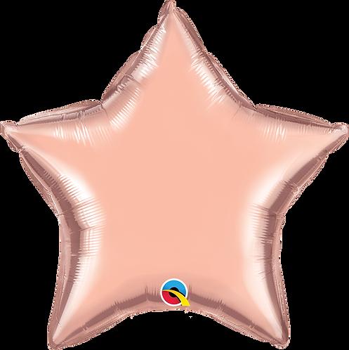 18 Inch Rose Gold Star Foil Balloon