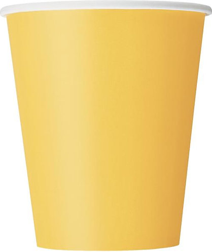 Yellow Paper Cups (9oz) 14pk