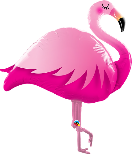 46 Inch Pink Flamingo Supershape Foil Balloon