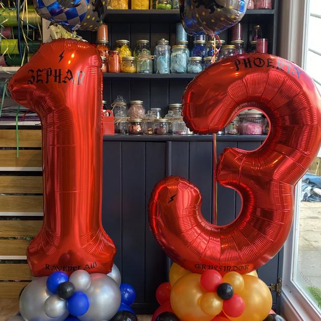 13th birthday - Harry Potter house theme