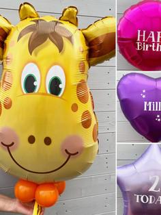 Giraffe Supershape helium personalised p