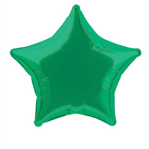 18 Inch Green Star Foil Balloon