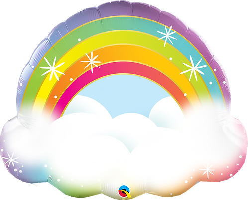 32 Inch Rainbow Supershape Foil Balloon
