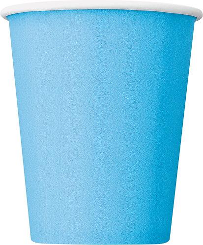 Baby Blue Paper Cups (9oz) 14pk