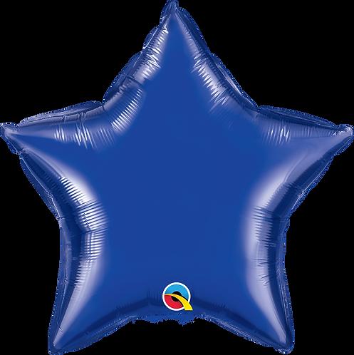 18 Inch Dark Blue Star Foil Balloon