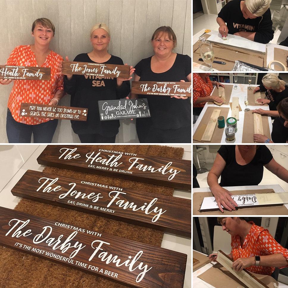 Christmas Wood Sign Workshop Lichfield S