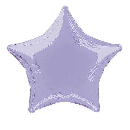 18 Inch Lilac Star Foil Balloon