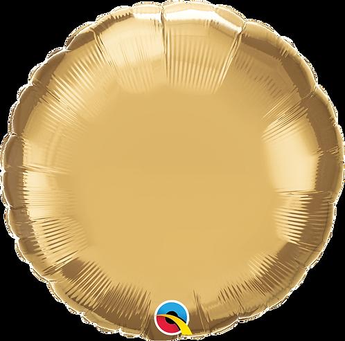 18 Inch Chrome Gold Round Foil Balloon