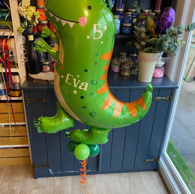 Dinosaur supershape balloon, helium fill
