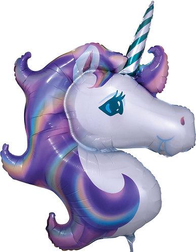 33 Inch Pastel Unicorn Supershape Foil Balloon