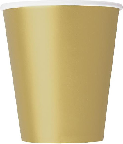 Gold Paper Cups (9oz) 14pk