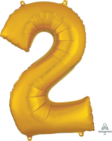 34 Inch Gold Foil Number Balloon