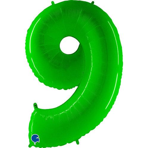40 Inch Fluorescent Green Number Balloon