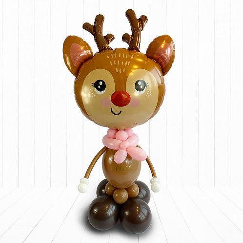 Large Supershape Reindeer Character Balloon Design for Christmas