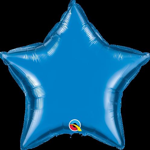 18 Inch Blue Plain Star Foil Balloon