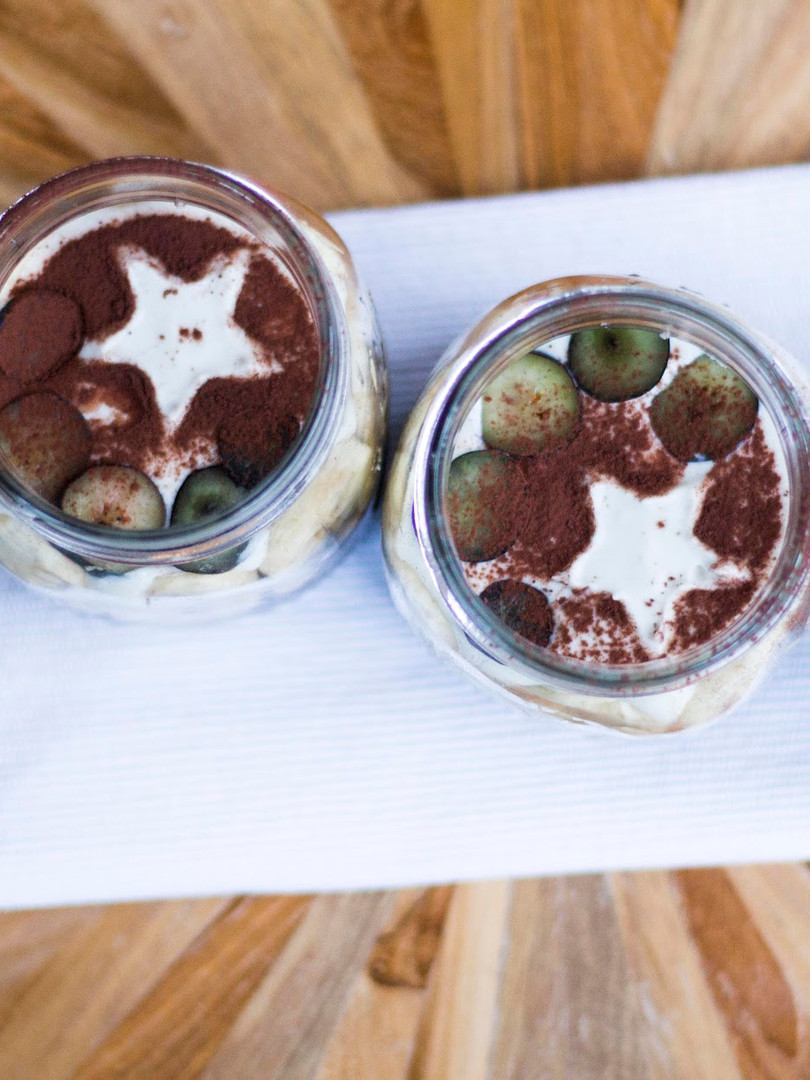 Coffee Chia pudding with cashew creme