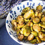 Roasted brussel sprouts with balsamik dressing