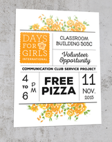 Days for Girls Flyers