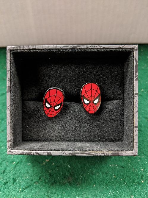 Spider-Man Mask Enamel Cuff Links