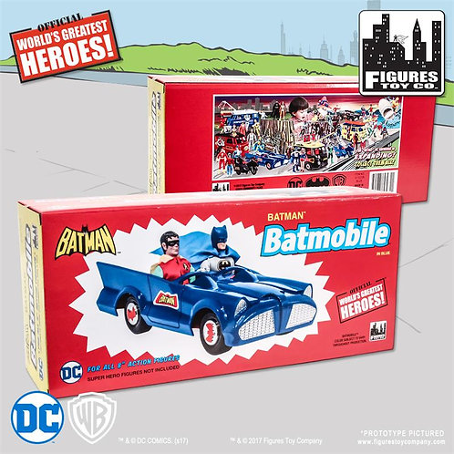 DC Comics Retro Batman Batmobile Playset (Blue)