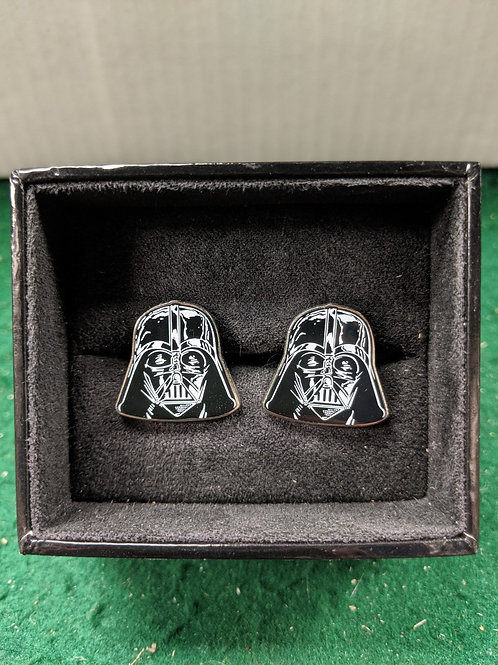 Darth Vader Helmet 2D Enamel Cuff Links