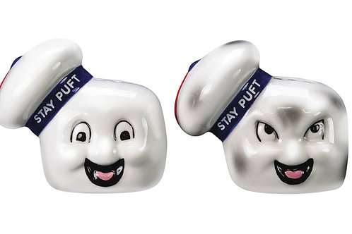 GHOSTBUSTERS STAY PUFT SALT & PEPPER SHAKERS SET