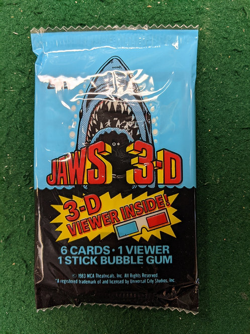 Jaws 3D Movie Image Collector Cards