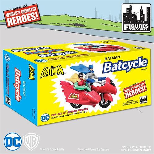 DC Comics Retro Batman Batcycle Playset (Red)