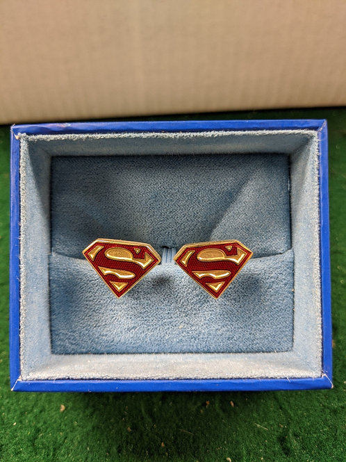 Superman Symbol Cuff Links - Gold