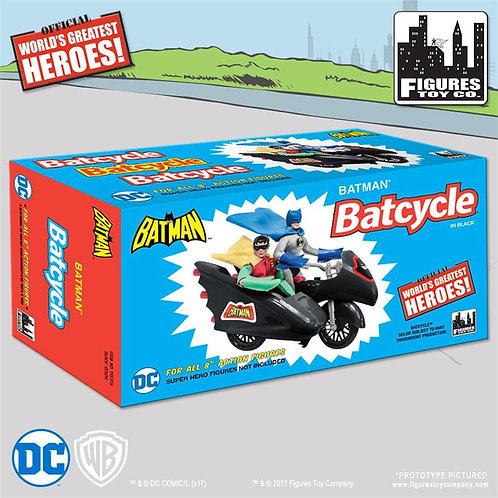 DC Comics Retro Batman Batcycle Playset (Black)