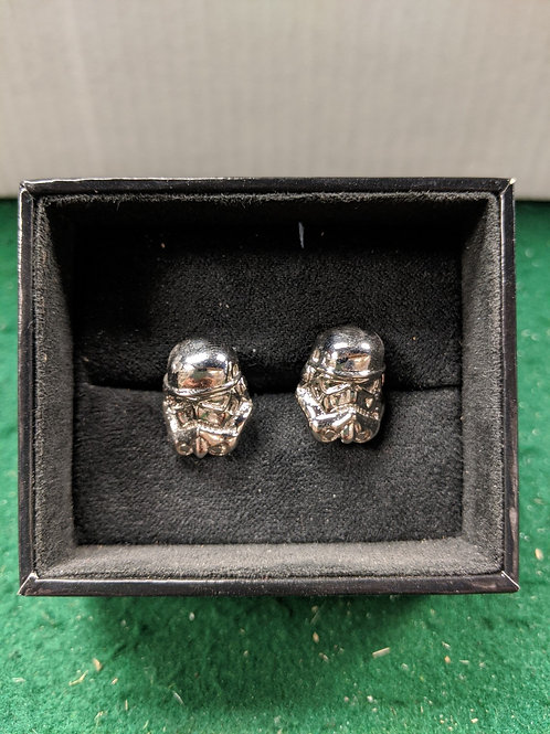 Storm Trooper Helmet 3D Cuff Links