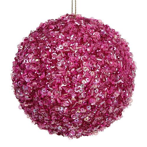Kuststoffen beparelde roze bal
