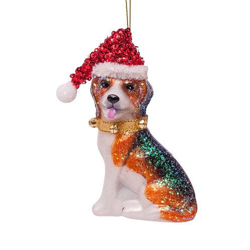 Glazen handgeschilderde beagle